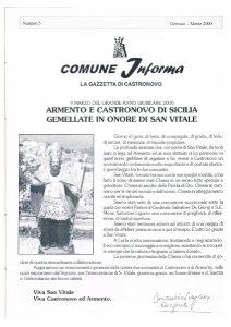 approfondimento gemellaggio castronovo di sicilia armento